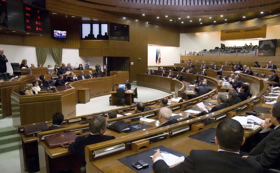 l aula del consiglio regionale in una seduta della scorsa legislatura