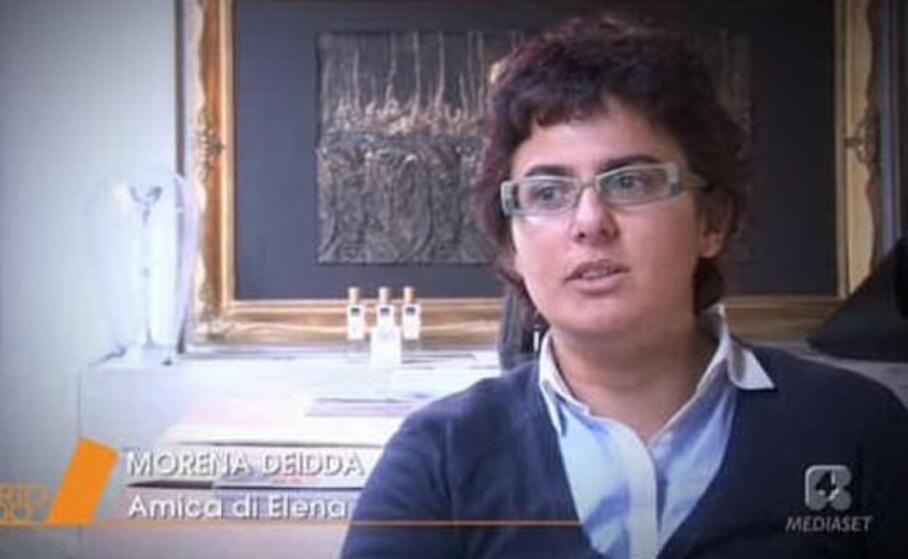morena deidda durante una trasmissione in tv