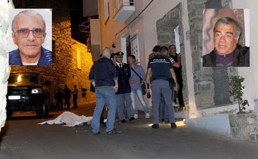la scena del delitto nei riquadri a sinistra l assassino stefano maloccu a destra la vittima mario tronci