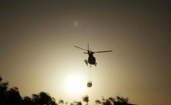 un elicottero in azione (simone murtas)