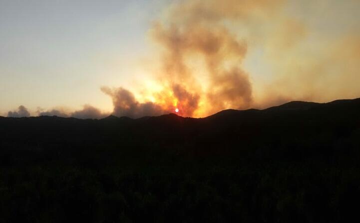 l incendio ad arbus (foto del lettore carlo)