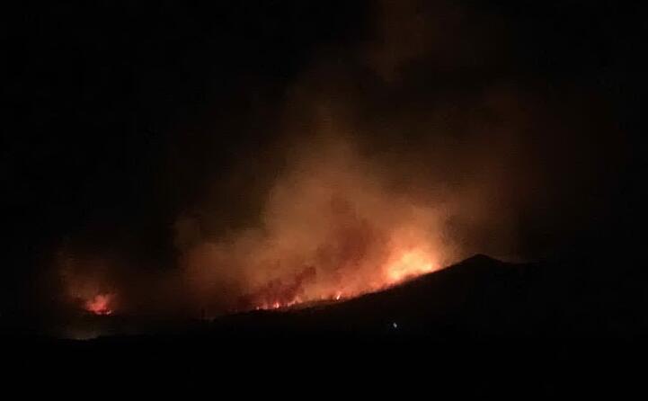 l incendio nel sud della sardegna (foto deidda)