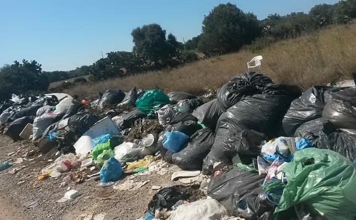 la raccolta differenziata a calasetta rischia di diventare un problema di igiene pubblica questo il benvenuto ai turisti di spiaggia grande stesso discorso per la salina (foto di migh ez 25 06 2017)