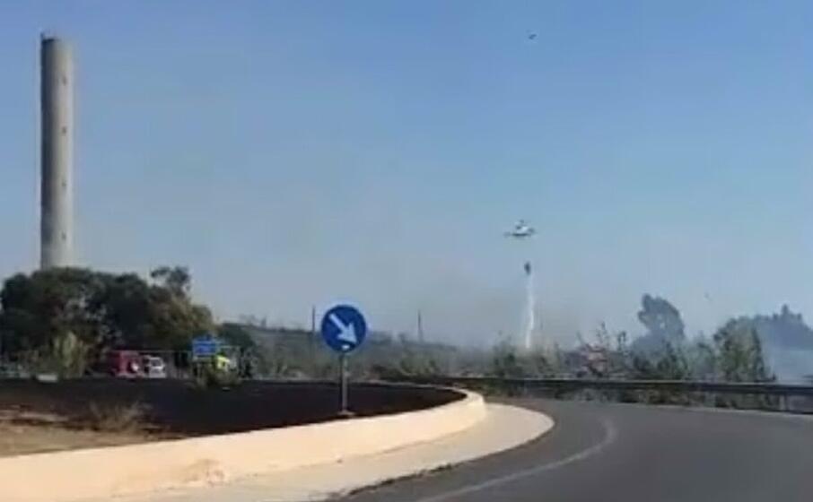 la zona dell incendio (foto di ignazio serra)