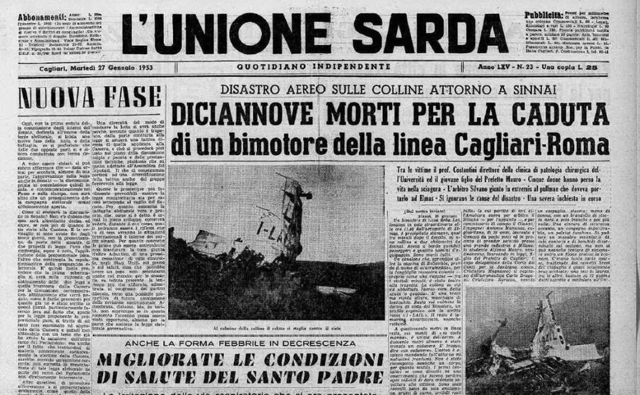 accaddeoggi 26 gennaio 1953 bimotore precipita sulle colline di sinnai i morti sono 19