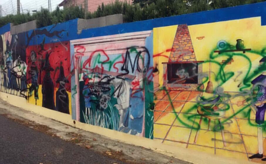 i murales imbrattati