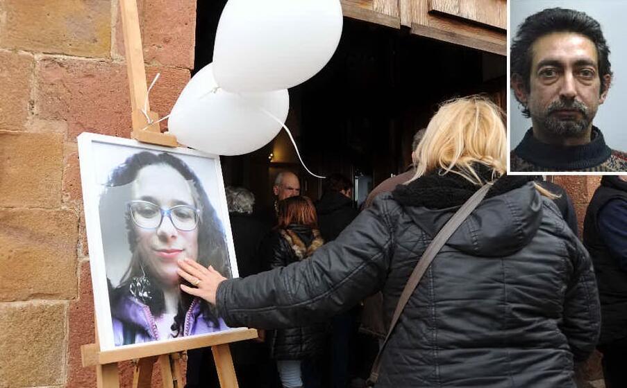 il funerale di federica madau nel riquadro l omicida giovanni murru