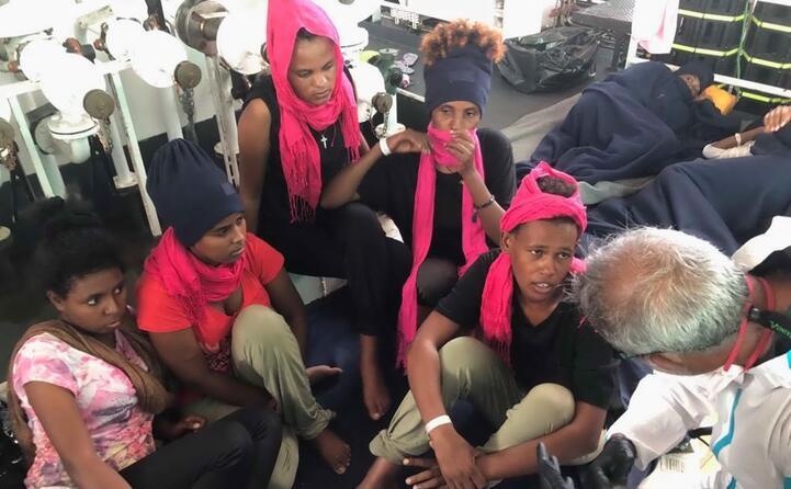 le donne a bordo