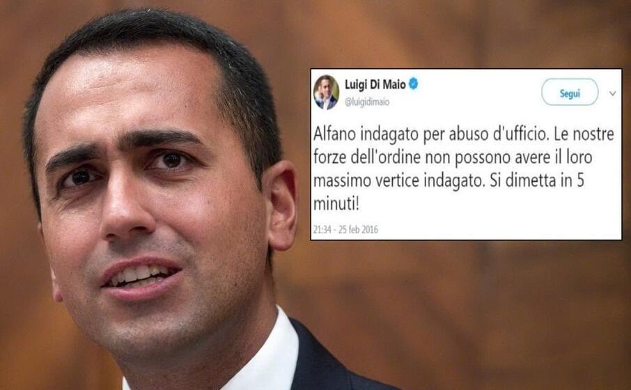 luigi di maio (ansa) e il tweet tornato virale