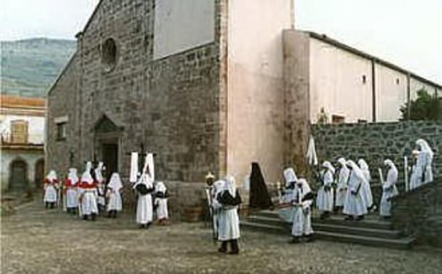 un momento della celebrazione di santa maria de sauccu a bortigali