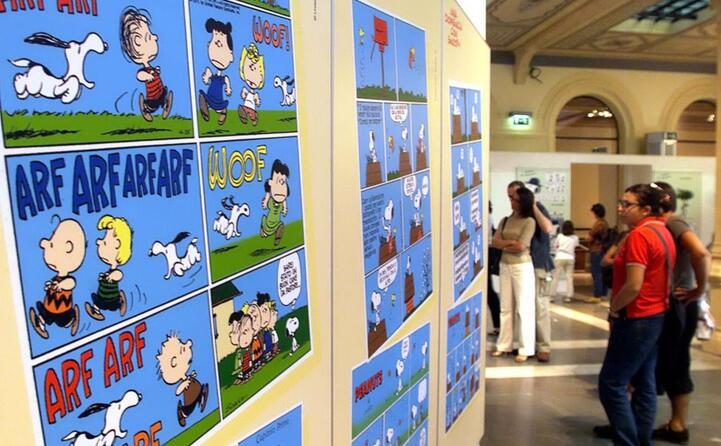nel 2000 a bologna la mostra dei peanuts (ansa)