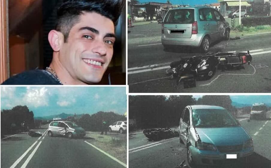nelle immagini christian urru e alcune foto dell incidente (foto studio 3a)