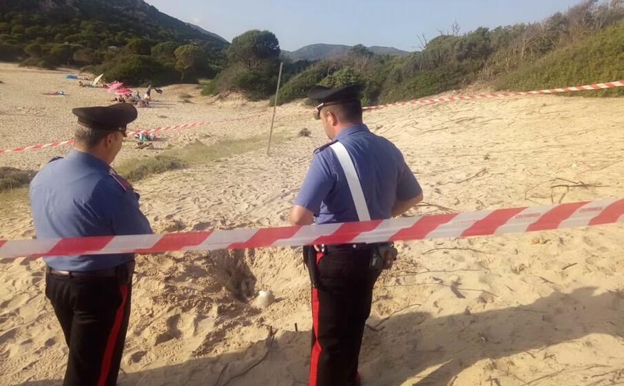 il luogo del ritrovamento (foto carabinieri)