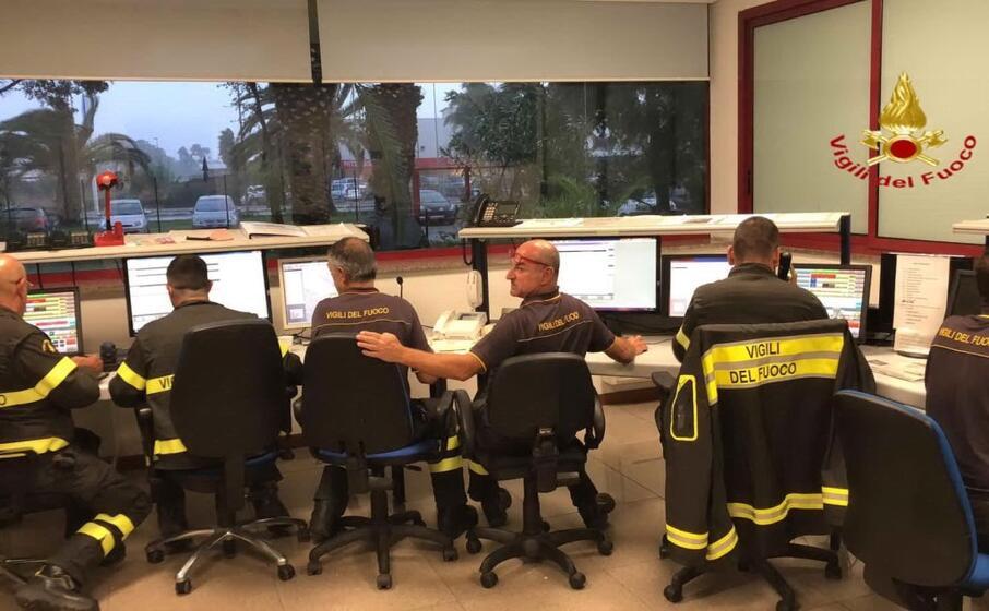 il centro operativo dei vigili del fuoco (foto vdf)