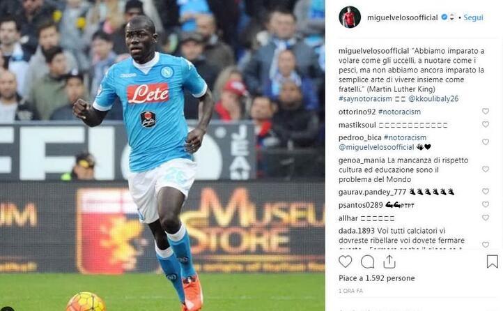 il post del centrocampista del genoa miguel veloso (foto instagram)