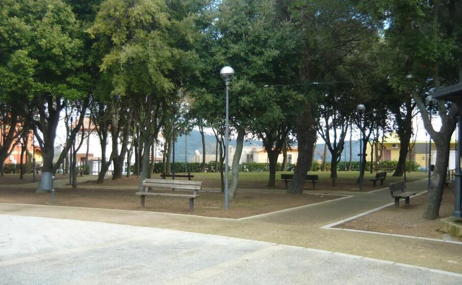 il parco nel centro abitato di burcei (foto raffaele serreli)