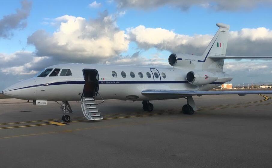 il falcon 50 (foto aeronautica militare twitter)