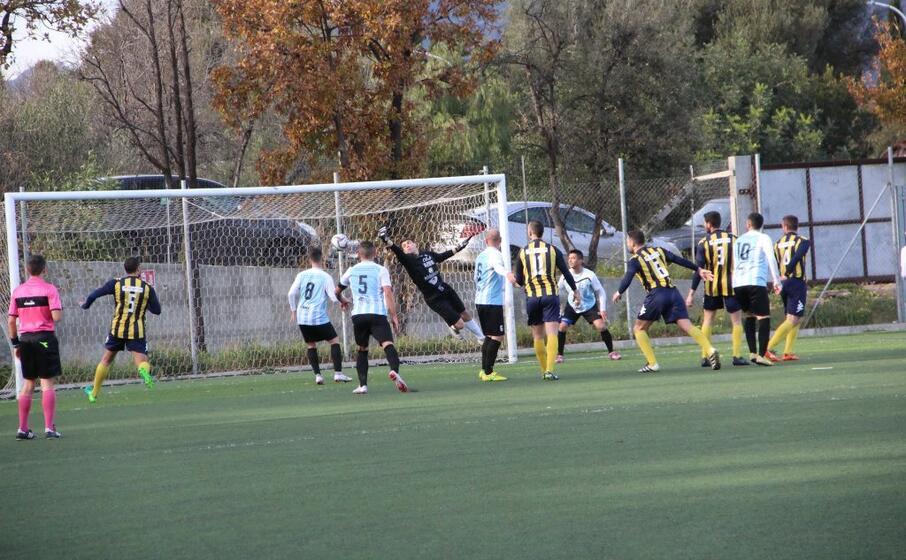il secondo gol del muravera segnato da lepore (foto andrea serreli)