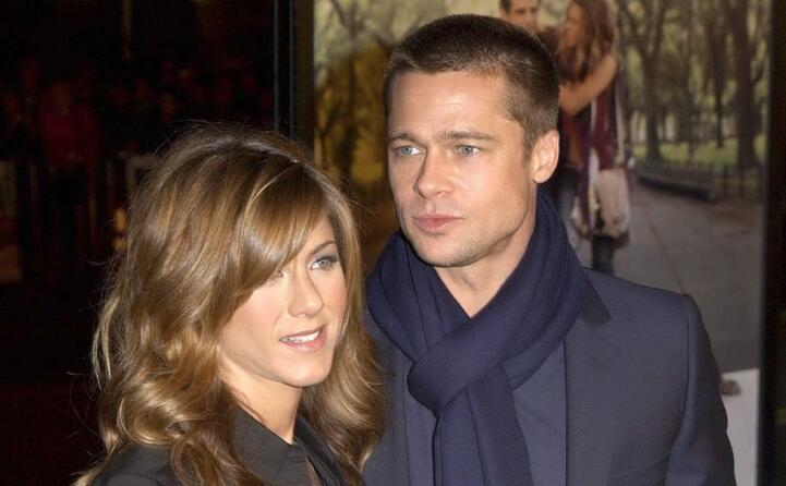 con l ex marito brad pitt nel 2004