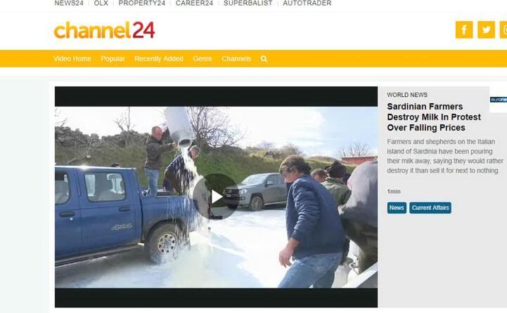 i pastori distruggono il latte (channel 24)
