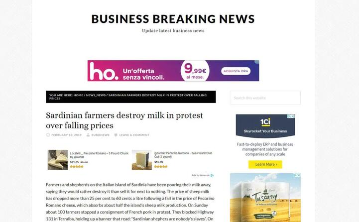 i pastori sardi buttano il latte in segno di protesta (business breaking news)