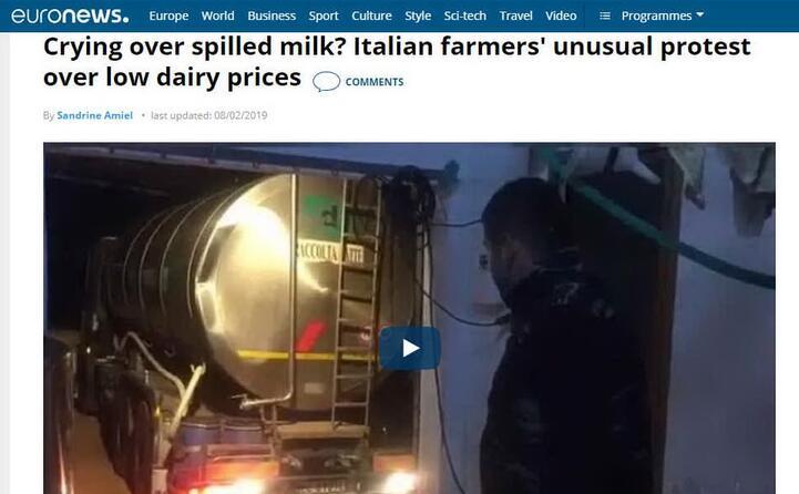 l inusuale protesta per il prezzo del latte (euronews)