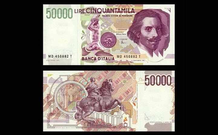 cinquantamila lire fronte retro