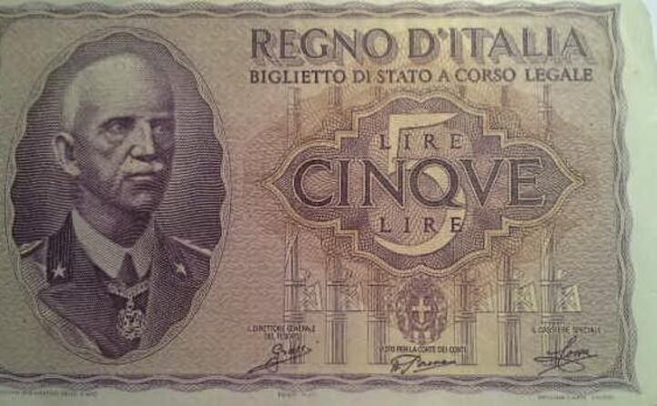 cinque lire in epoca fascista