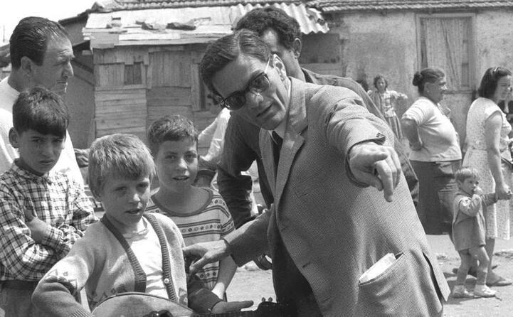 durante le riprese di accattone (1960)