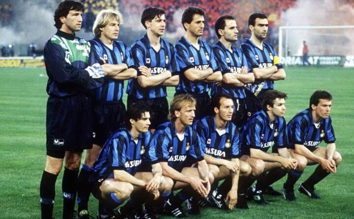 i nerazzurri vincitori della coppa uefa 1990 91