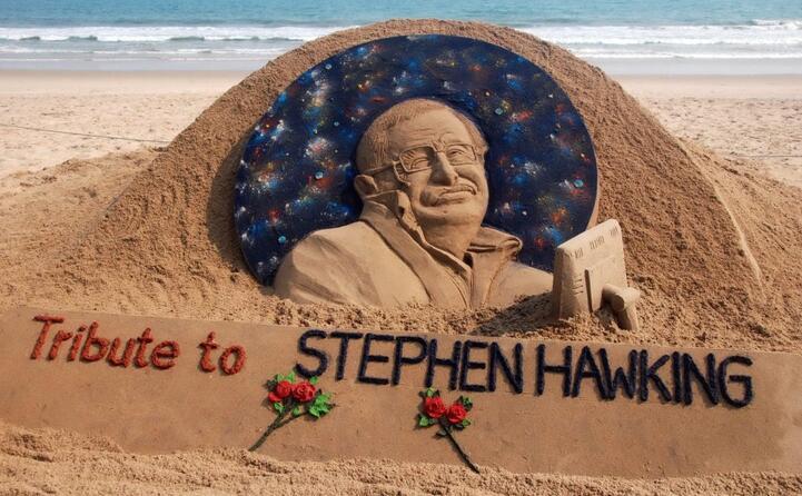 anche in india un tributo per lui di sabbia