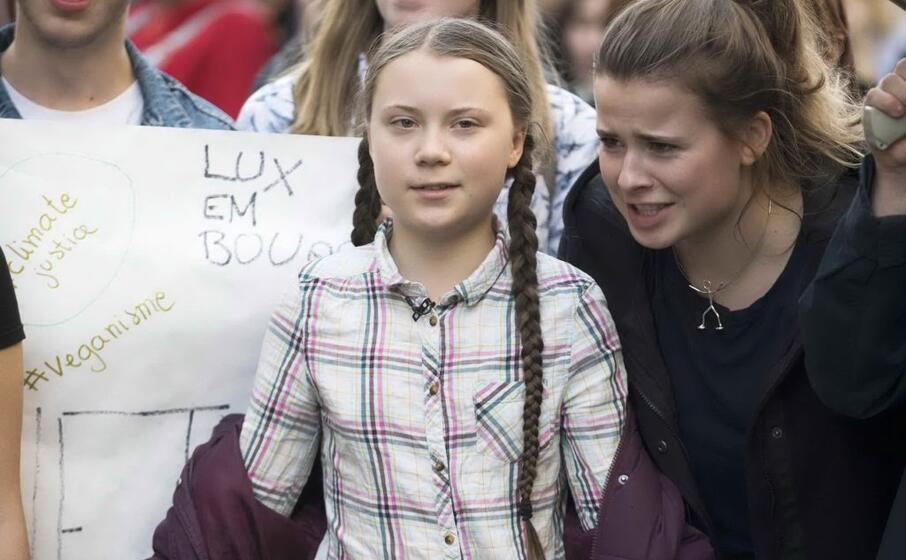 la piccola attivista svedese greta thunberg (ansa)