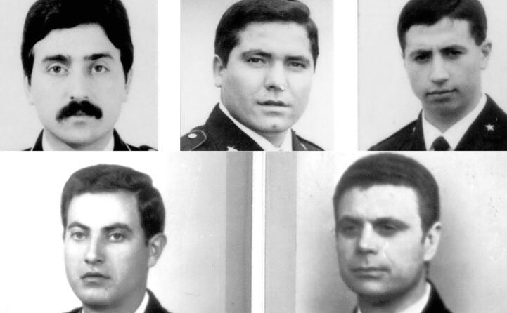 i cinque agenti vittime dell agguato