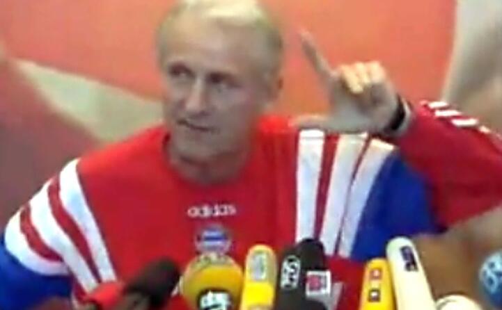 la famosa intervista in cui da allenatore del bayern si scaglia contro i suoi giocatori e in particolare contro strunz