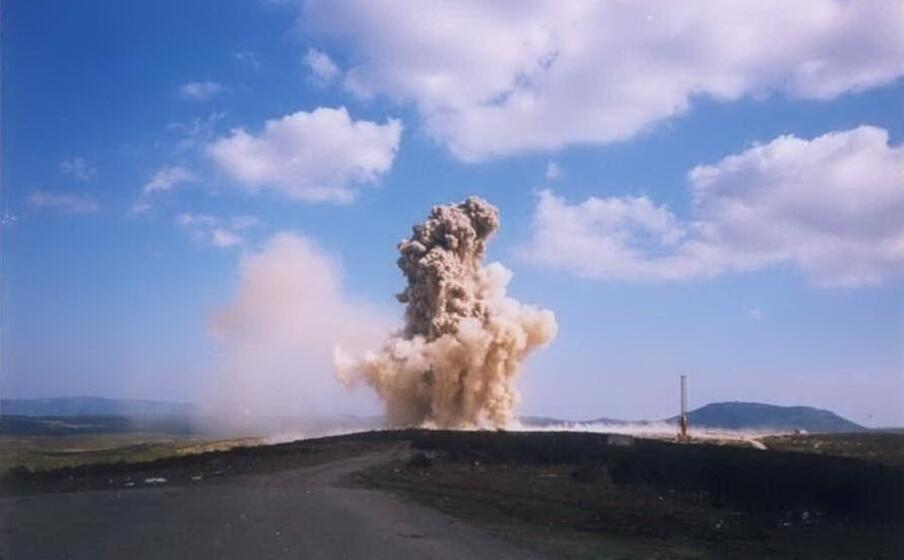 un esplosione al poligono di quirra (archivio l unione sarda)
