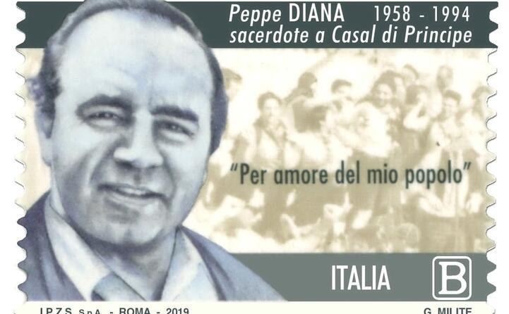 il francobollo di poste italiane dedicato a don diana
