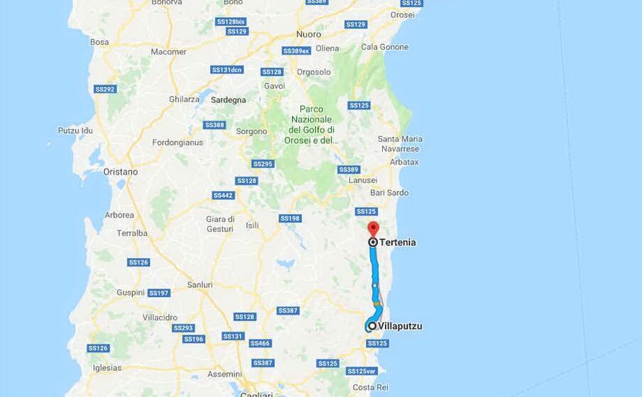l area interessata dal sisma (foto google maps)