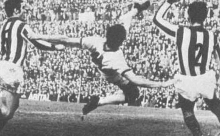 il gol in rovesciata di riva contro il vicenza nel gennaio del 1970