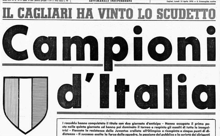 accaddeoggi 12 aprile 1970 il cagliari campione d italia