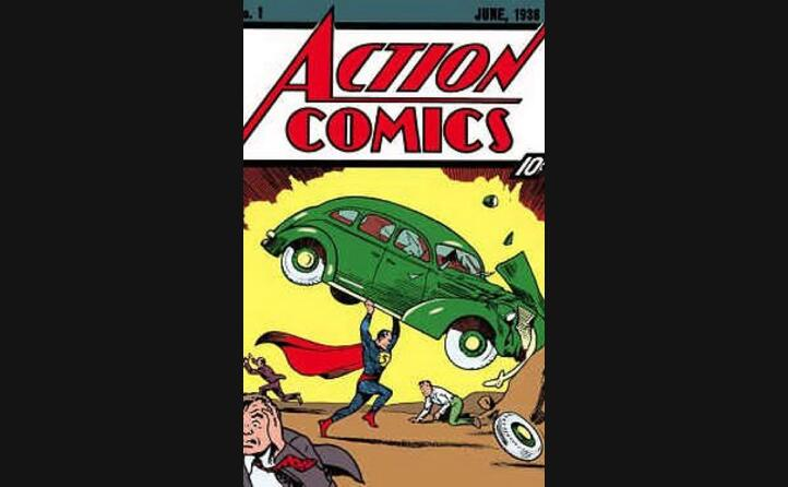 il primo albo in cui appare superman (foto wikipedia)