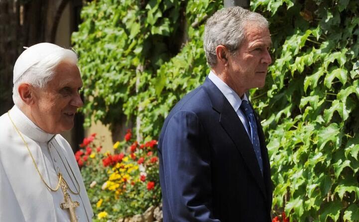 con il presidente degli stati uniti george w bush (ansa)