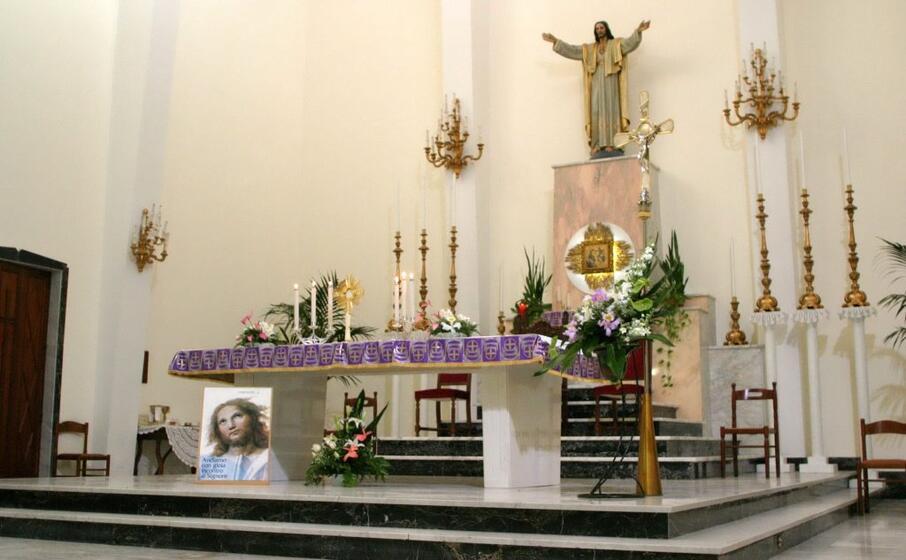 la chiesa del sacro cuore (archivio l unione sarda)