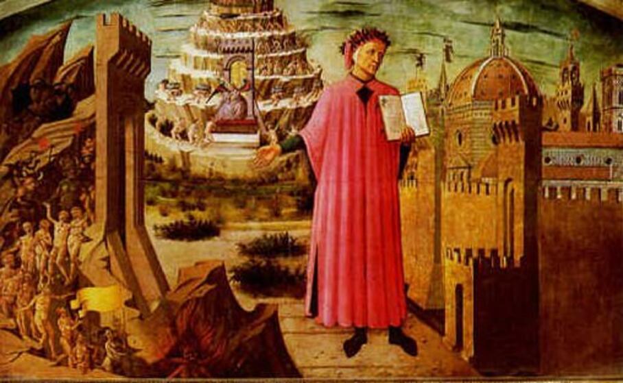 dante alighieri legge il suo poema (wikipedia)