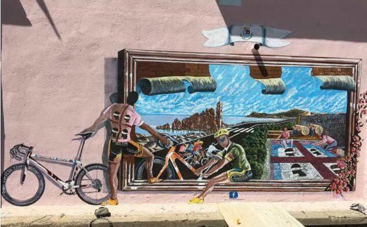 a tortol un murales per l atleta marchigiano (ansa)