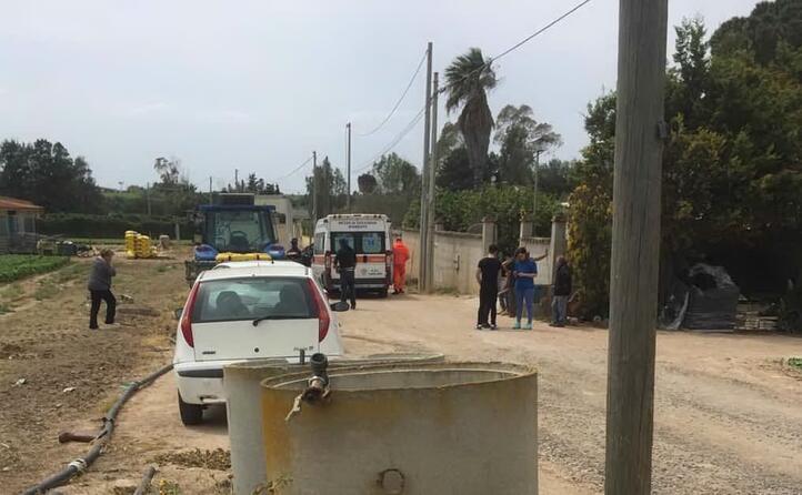 l incidente avvenuto in campagna nella zona di sestu (foto l unione sarda pinna)