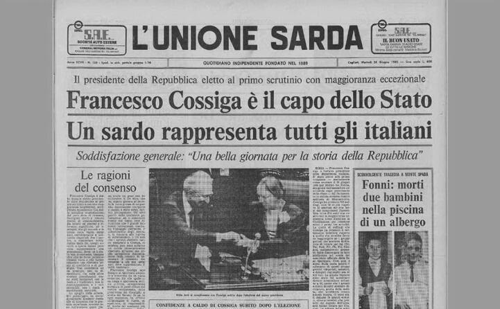 cossiga era stato eletto presidente il 24 giugno 1985