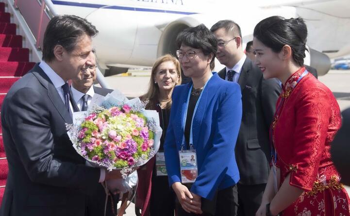 tra gli ospiti anche il presidente del consiglio italiano giuseppe conte