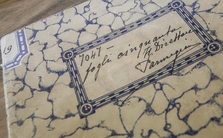 uno dei suoi quaderni