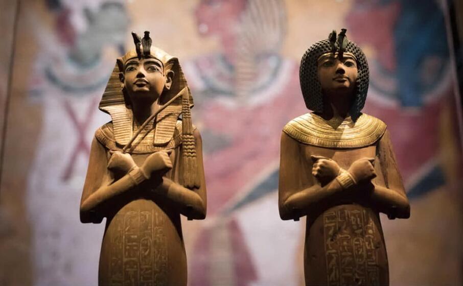 statue del tesoro di tutankhamon (ansa)