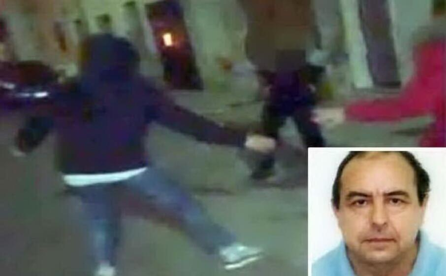 un fermo immagine tratto da un video della polizia nel riquadro antonio stano (foto polizia)